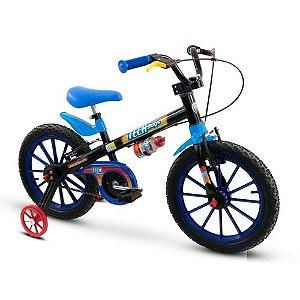 Bicicleta Infantil Aro 16 - Tech Boys - Menino - Preto e Azul - Nathor