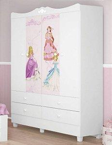 Roupeiro Infantil  New Princesas - Tuboarte