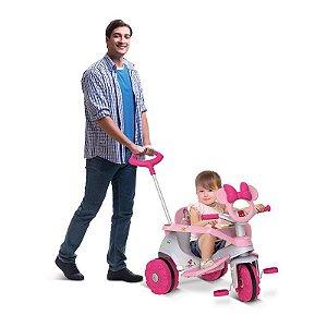 Triciclo Velobaby Passeio E Pedal Rosa- Bandeirante