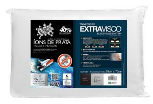 Travesseiro Extravisco Íons de Prata - Fibrasca