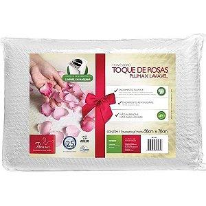 Travesseiro Plumax Toque de Rosas