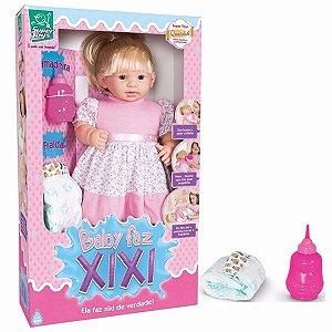 Boneca Baby Faz Xixi Com Cabelo  Ref.206 - Super Toys