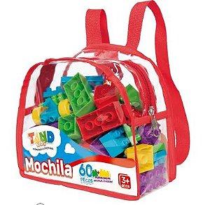 Blocos De Montar Tand Mochila 60 Peças - Toyster
