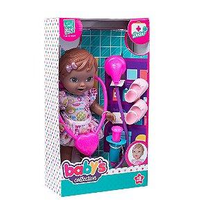 Boneca Babys Collection Dodoi Negra 312 - Super Toys