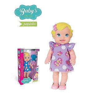 Boneca Babys Collection Papinha - Super Toys