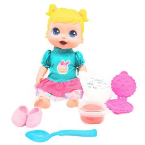 Boneca Baby's Collection Comidinha Super Toys