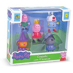 Conjunto Com 5 Bonecos Peppa Pig  - DTC