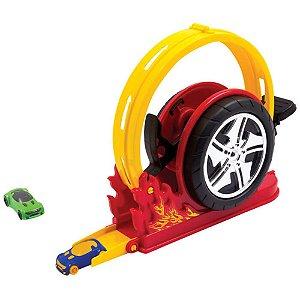 Pista Lançador Mega Speed 184  - Bs Toys