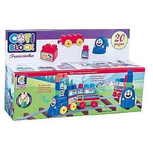 Brinquedo De Encaixar Coti Block Trenzinho Cotiplás