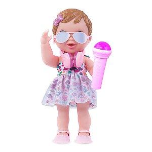 Boneca Pop Star Baby's Collection Menina-362 - Super Toys
