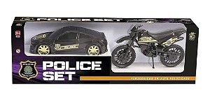 Carro e Moto Police Set  306 - BS Toys