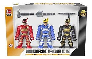 Bonecos Work Force Conjunto 467 - Bs toys