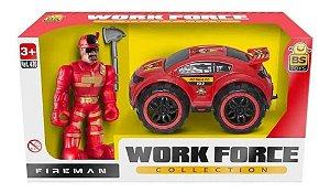 Carrinho de Bombeiro Work Force 270 - Bs Toys