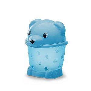 Lixeira cajovil urso 2,6 lts azul bebê
