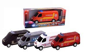 Carrinho Speed Van Resgate - Diverplas