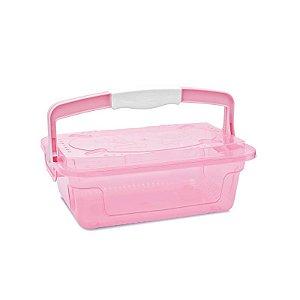 Organizador cajovil 5,6l trans rosa bebê