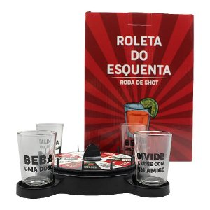Jogo Drinks Zona Criativa Roleta c/4 Shots - Esquenta Amigos