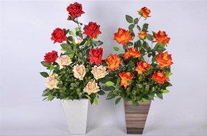 Arranjo Clovis Funil Com Rosas 18703