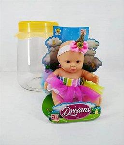 Boneca No Pote Dreams Sortida Unicórnio - Brinquedos Anjo