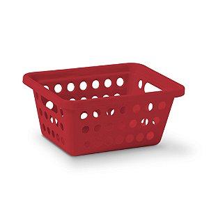 Cesta Organizadora Nº 1 Cromo - Vermelha - Niquelplast