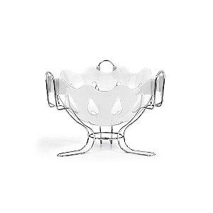 Fruteira de Mesa Cromo Colors Branca 3084 - Niquelplast