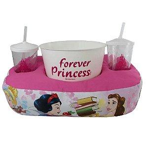 Kit Almofada Zona Criativa Porta Pipoca Copos - Princesas