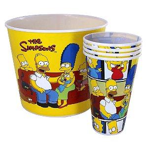Kit Balde Pipoca  Zona Criativa  de Pipoca - Família The Simpsons