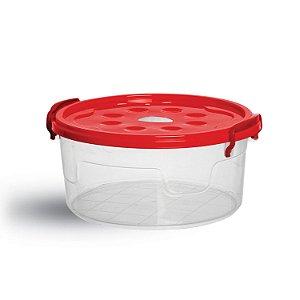 Pote Pop Red. C/Trava 600 ml 6405 - Niquelplast