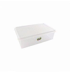 Caixa Retangular Organizadora 3,5L Branco Plasvale
