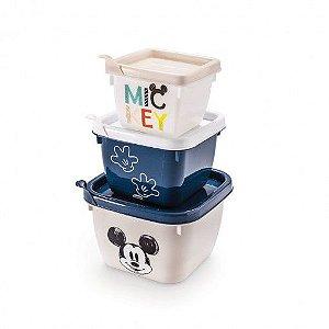 Conjunto Plasútil 3 Potes Mickey