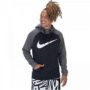 Camiseta Nike Therma Masculina Preto/Cinza