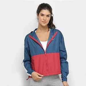 Jaqueta Nike NSW Core Feminina - Azul e Vermelho