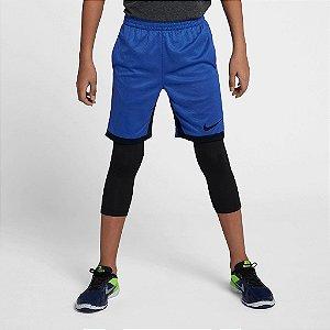 Shorts Nike Dri-Fit Trophy Infantil - Azul
