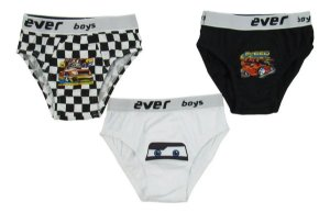 Cueca Masculina Infantil Cars Everly Kit Com 3 Unidades