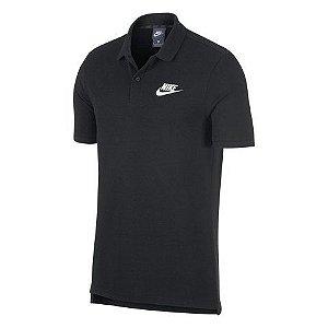 Camisa Polo Masculina Nike Sportswear - Preta