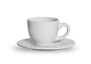 Xicara Café Com Pires Branca - Scalla