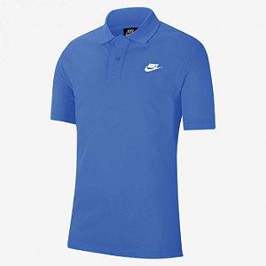 Camisa Azul Polo Sportswear Masculina - Nike