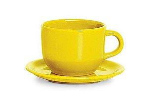 Xicara Jumbo Com Pires Amarelo - Scalla