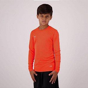 Camiseta Penalty Matis Manga Longa Juvenil Laranja