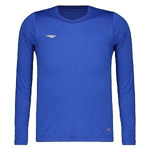 Camiseta Penalty Matis Manga Longa Juvenil Azul