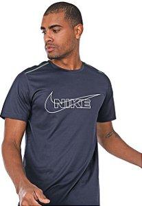 Camiseta Nike Dri-Fit Breathe Run Azul-marinho