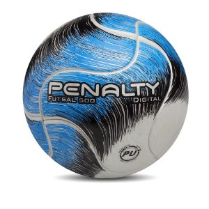 Bola Penalty Futsal Digital 500 Termotec Adulto Azul Original
