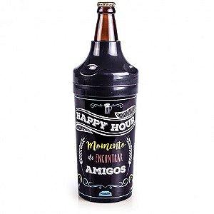 Porta Plasútil Garrafa  Happy Cerveja