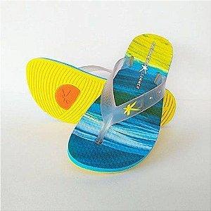 Sandália Summer Areia Azul/Amarelo Kenner - Masculino