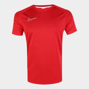 Camisa Nike Academy Masculina - Vermelho e Branco