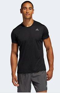 Camiseta Run IT Preto Adidas Preto- Masculino