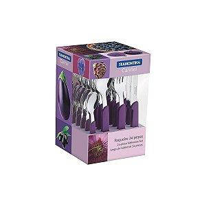 Faqueiro Carmel Púrpura Escuro 24 Peças Tramontina