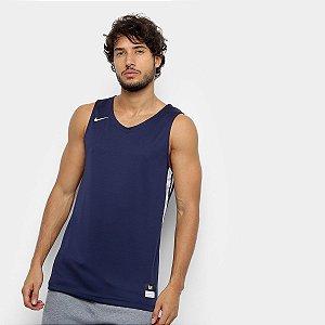 Regata Nike STK Jersey Masculina - Marinho e Branco