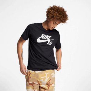 Camiseta Nike SB Dri-Fit Logo Masculina - Preta