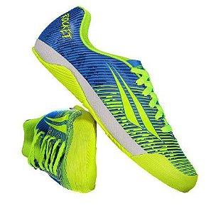 Chuteira ATF Rocket IX Futsal Juvenil Azul/Verde Penalty - Masculino